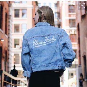 Brandy Melville Rare New York Jean Jacket